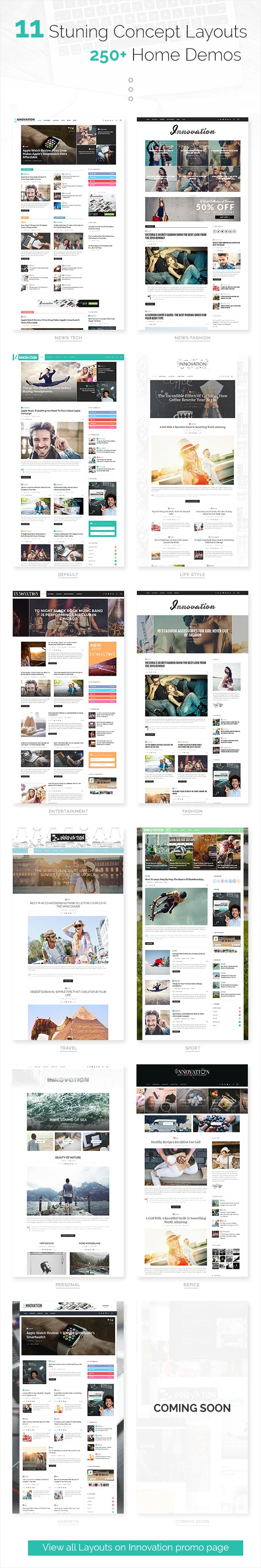 INNOVATION: Multi-Concept News, Magazine & Blog Theme - 4