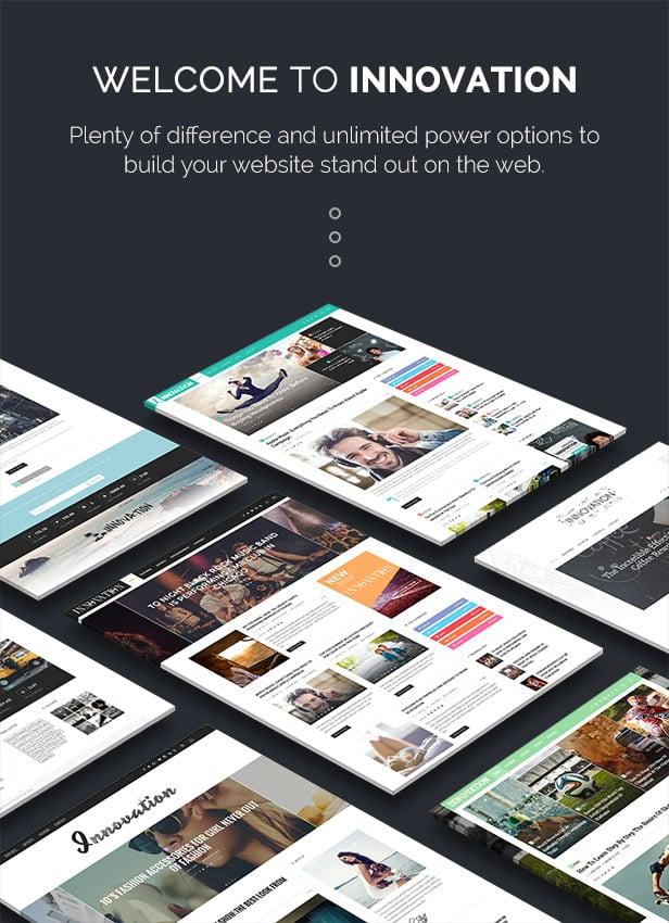 Innovation: Multi-Concept News, Magazine & Blog Theme - 1