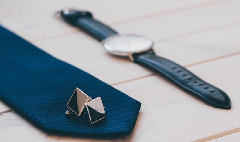 tie-watch-cufflinks