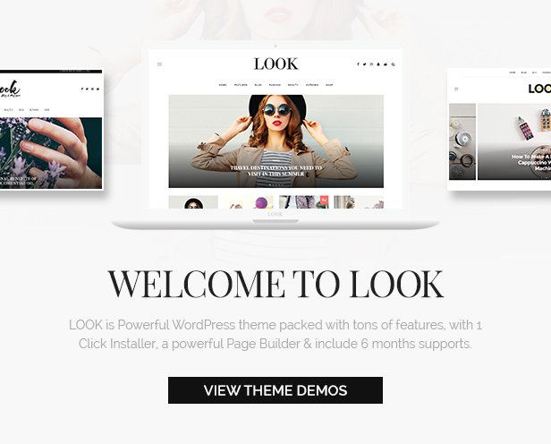 Look: Minimal Magazine and Blog WordPress Theme - 2
