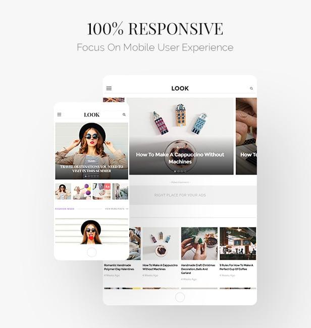 Look: Minimal Magazine and Blog WordPress Theme - 5