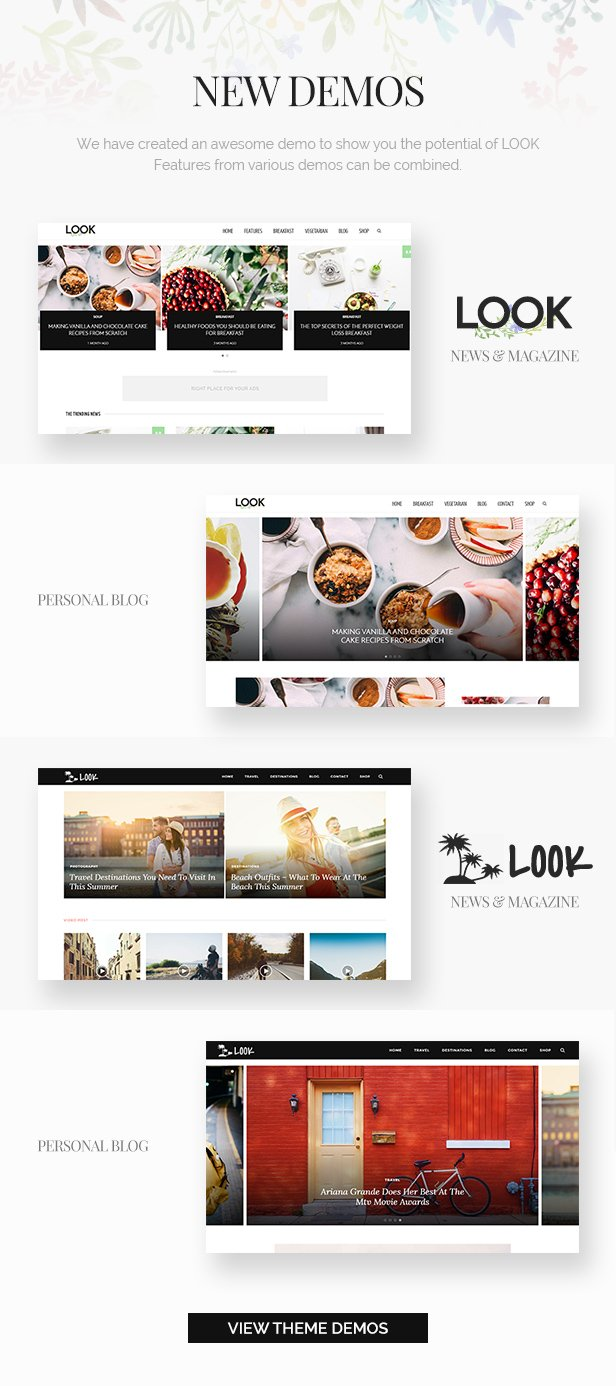 Look: Minimal Magazine and Blog WordPress Theme - 1