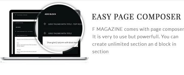F - Magazine WordPress Theme - 9  Download F – Magazine WordPress Theme nulled page composer